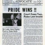 The Los Angeles Advocate, Vol. 1, No. 3 (November 1967)