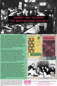 Panel 5 - Harry Hay Founds the Mattachine Society