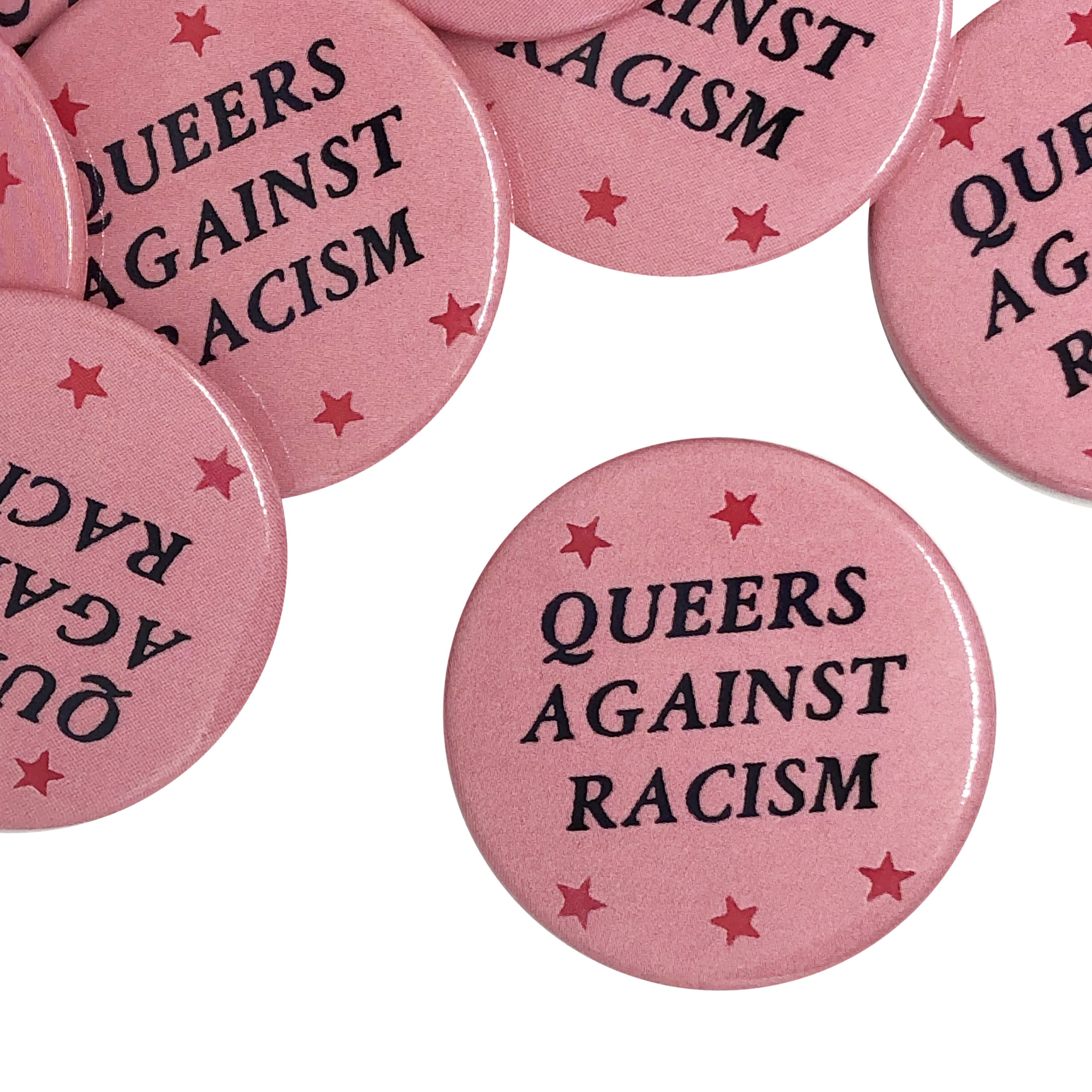 """Queers Against Racism"" Button"