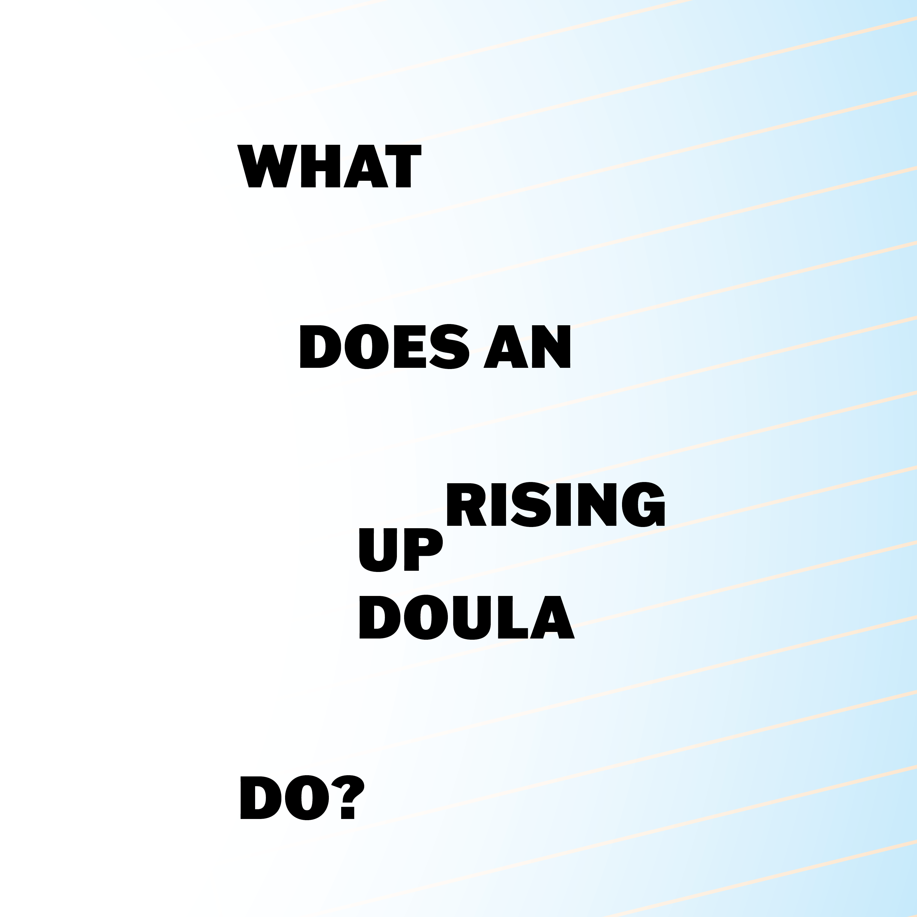 WHAT DOES AN UPRISING DOULA DO? ZINE, EDITED BY Abdul-Aliy Muhammad, Pato Hebert & WWHIVDD